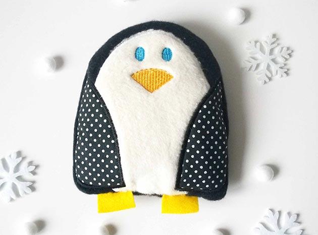 Kirschkernkissen Pinguin