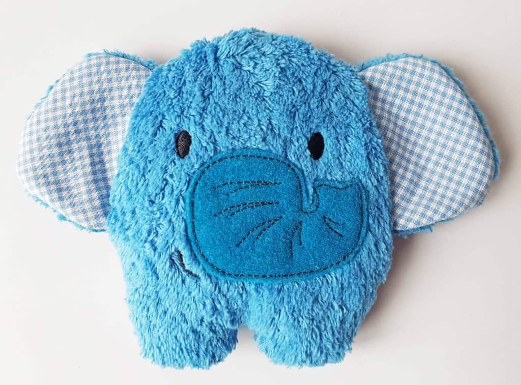 Kirschkernkissen Elefant blau