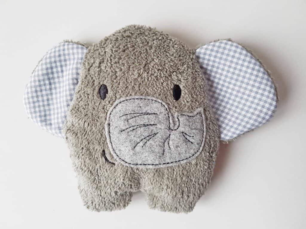 Kirschkernkissen Elefant grau
