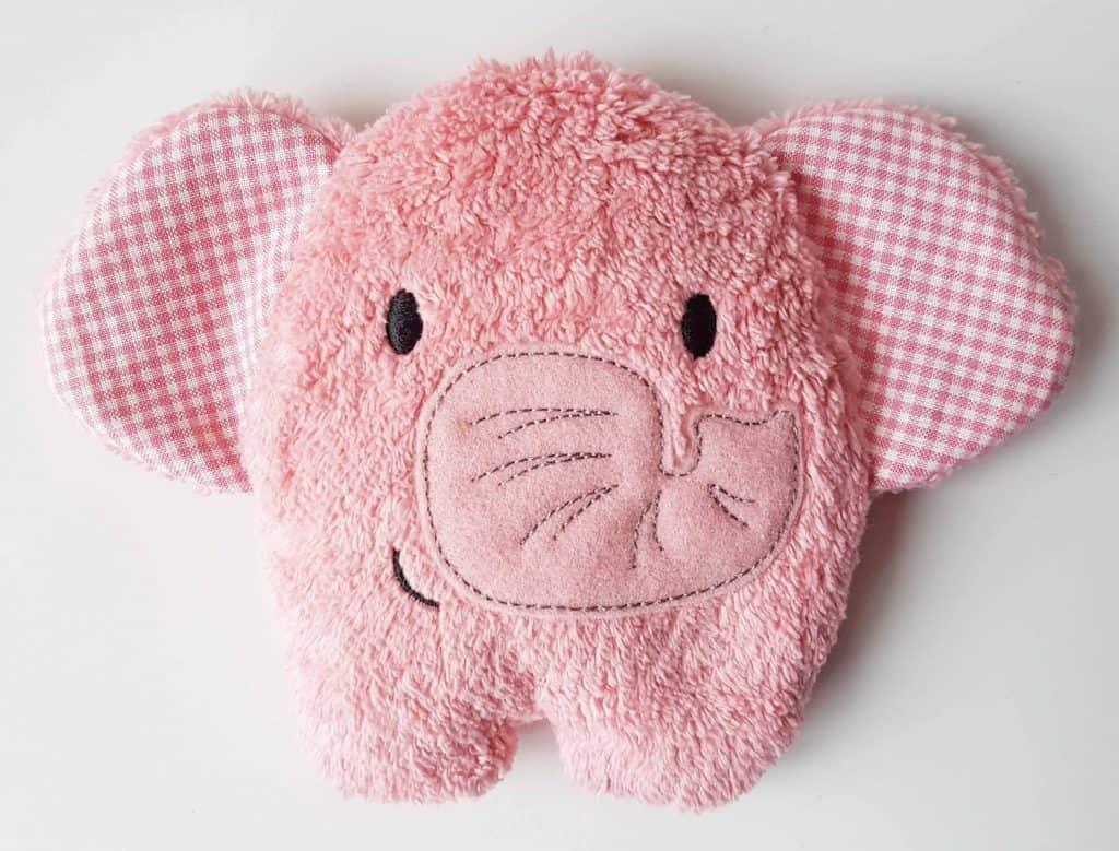 Kirschkernkissen Elefant rosa