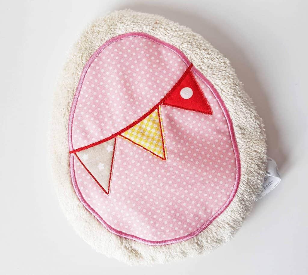 Kirschkernkissen Ei (Rosa)